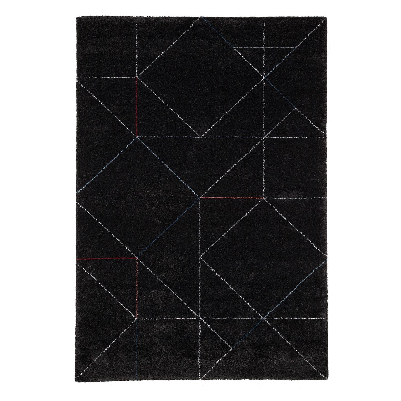 Hoogpolig tapijt Beau Cosy - textielmix - Grijs/wit - 160x230cm, Studio Copenhagen