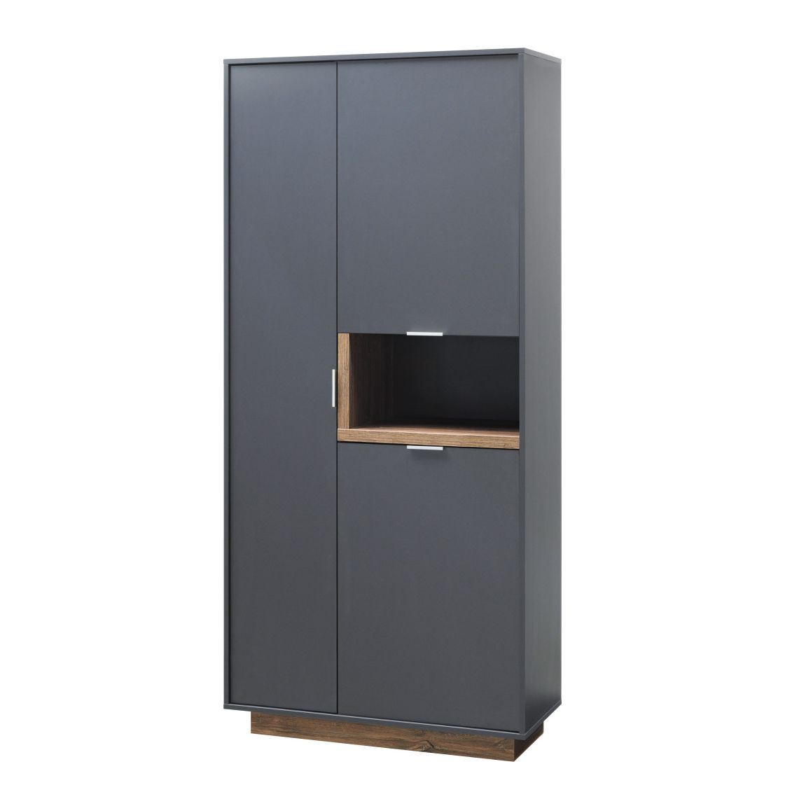 Armoire My Ell - Graphite / Imitation chêne de Stirling, Cs Schmal