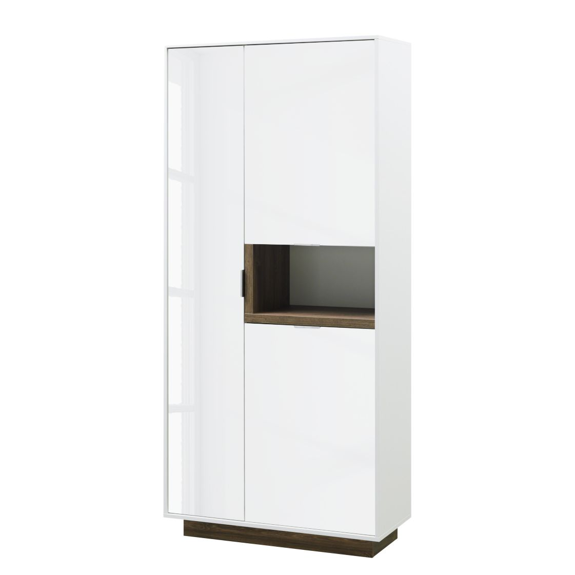 Armoire My Ell - Blanc brillant / Imitation chêne de Stirling, Cs Schmal
