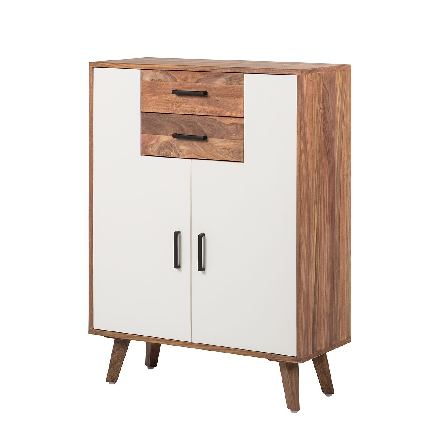 Commode Nilsson - Sheesham partiellement massif Blanc, Morteens
