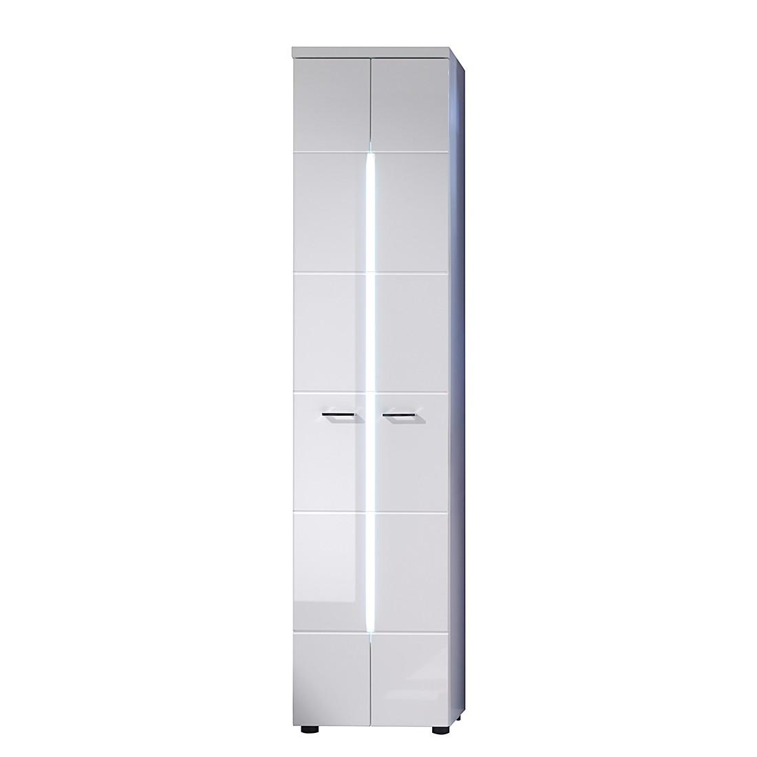 EEK A+, Armoire haute Storm Light - Blanc, Trendteam