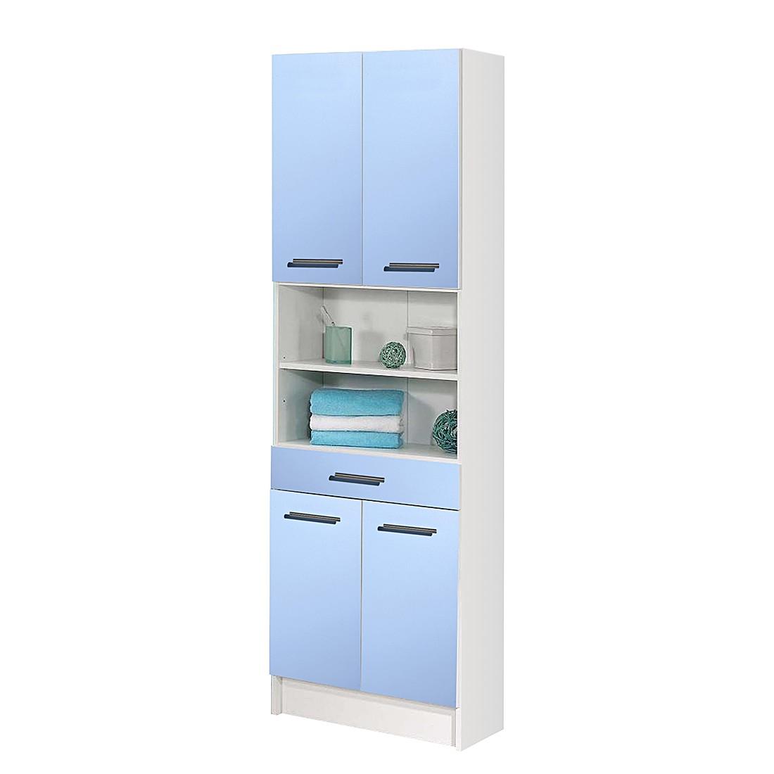 Armoire colonne Ottawa - Modèle large - Bleu clair, Schildmeyer