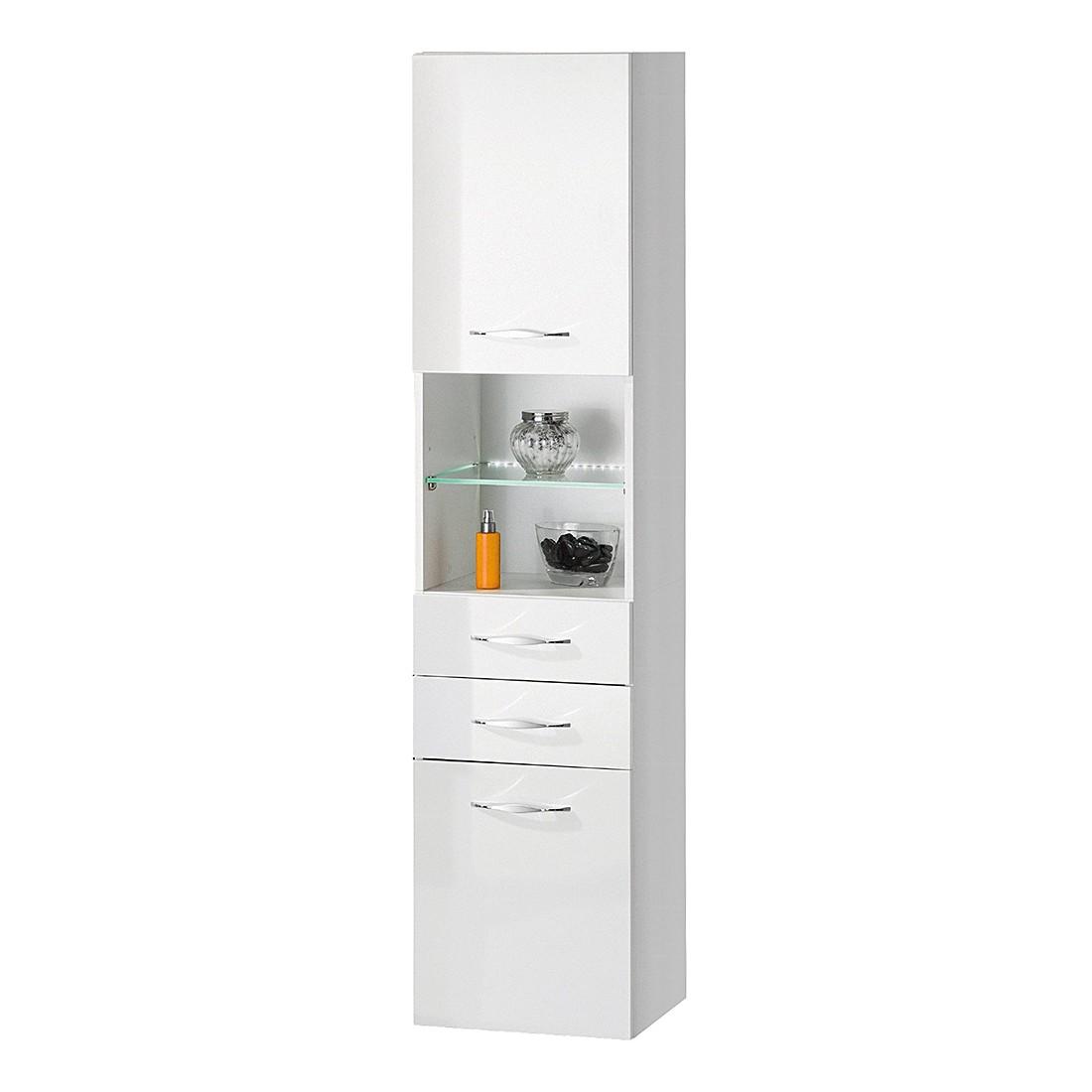 EEK A+, Hochschrank Sceno I - Hochglanz Weiß - 40 cm, Fackelmann