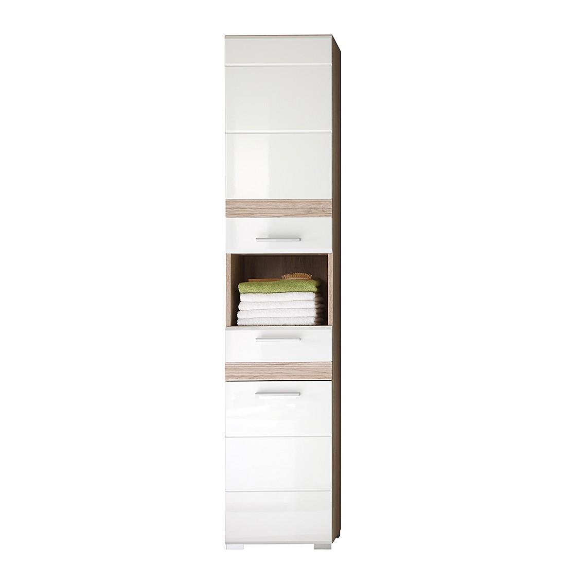 Armoire haute Unum - Imitation chêne de San Remo / Blanc, Trendteam
