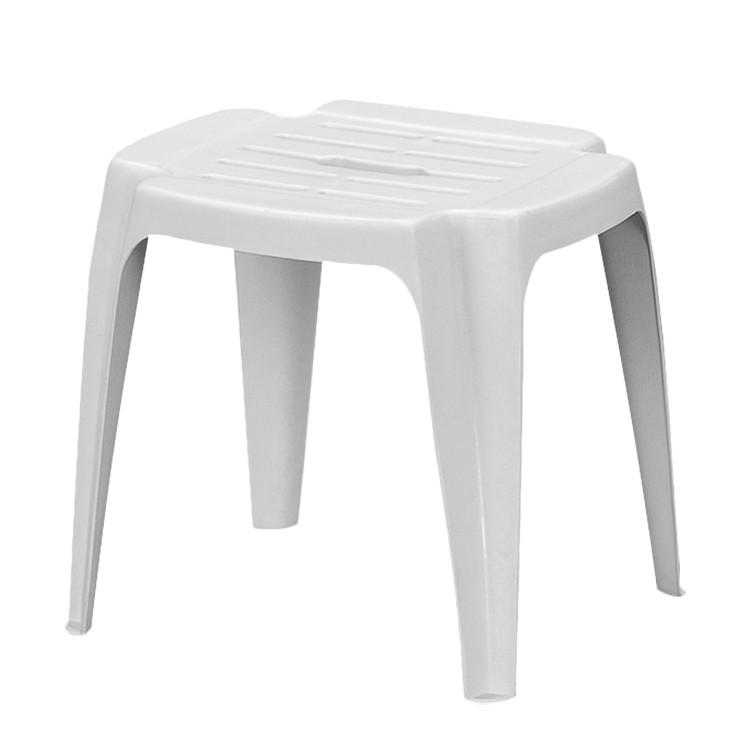 Hocker Calypso - Kunststoff - Weiß, Progarden