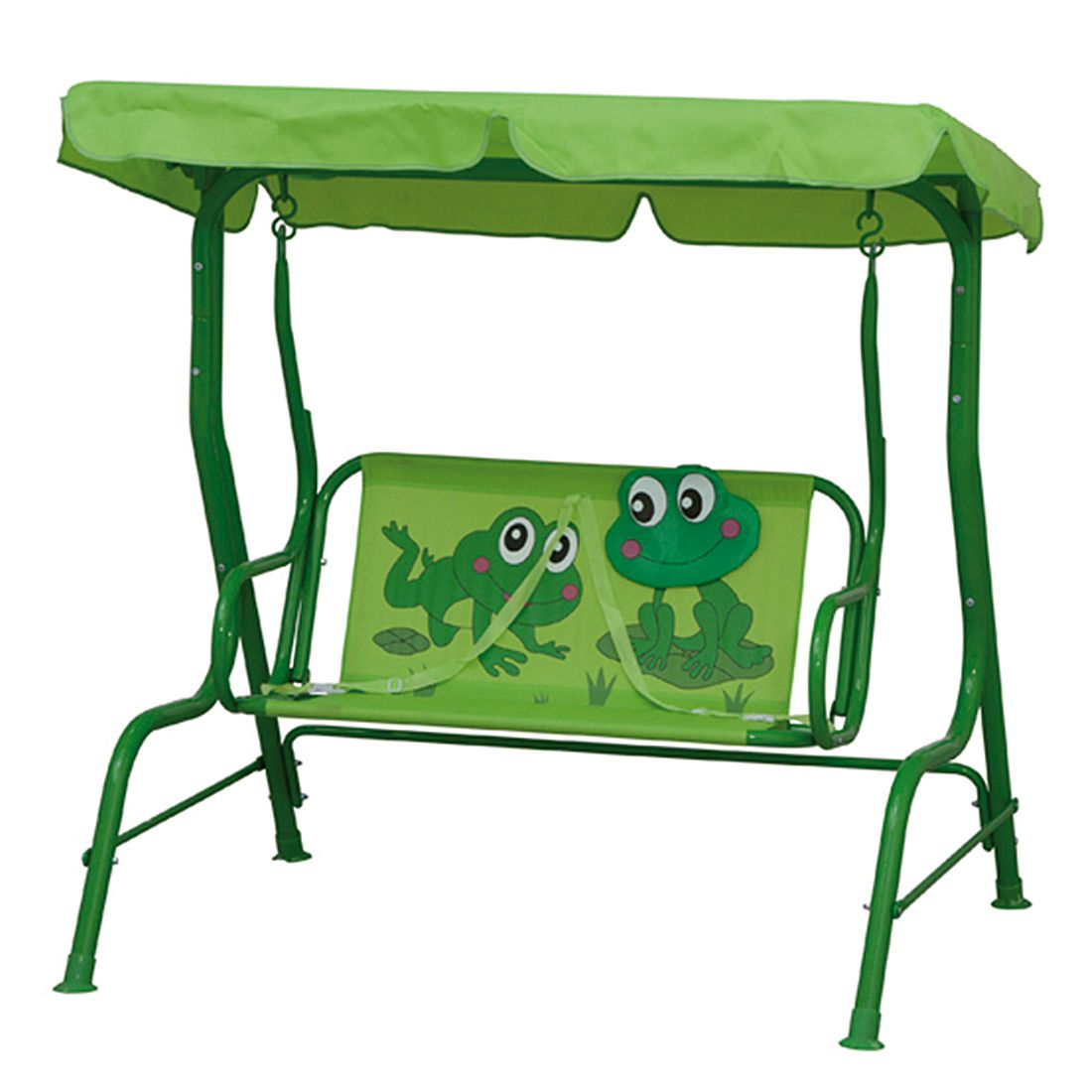 Hollywoodschaukel Froggy - Stahl/Polyester - Grün/Froschmotiv, Siena Garden