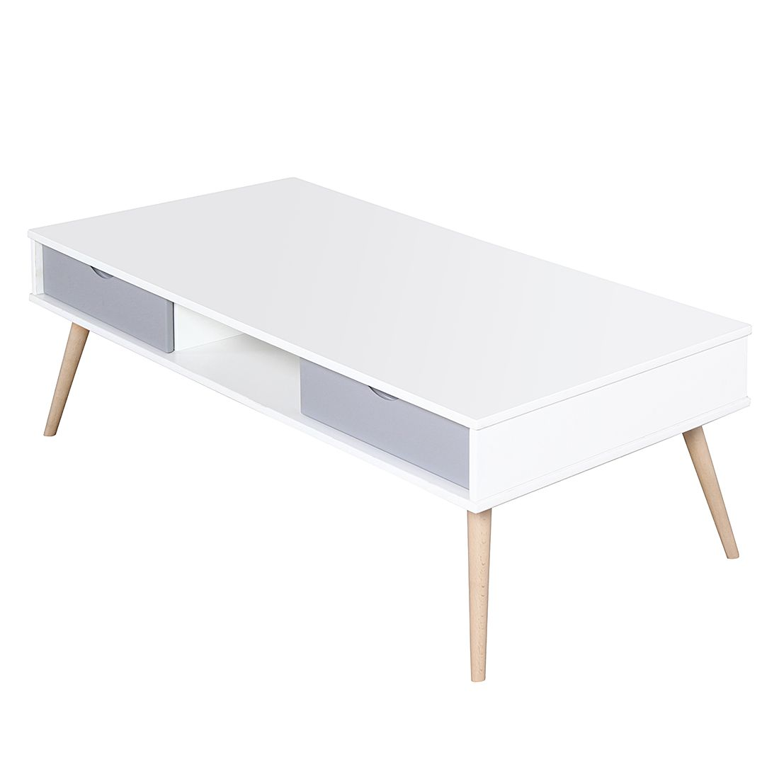 Table basse Stan - Blanc / Gris, Morteens