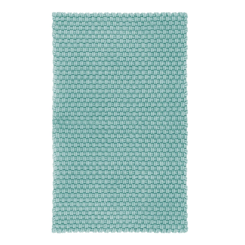 In- & Outdoor-Teppich Uni (handgewebt) - Kunstfaser Babyblau Sale Angebote Terpe