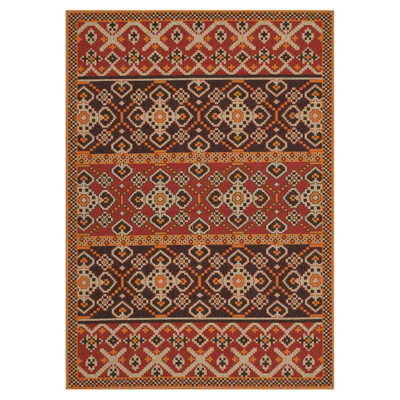Home 24 - Tapis intérieur/extérieur akot - rouge / chocolat - 121 x 170 cm, safavieh