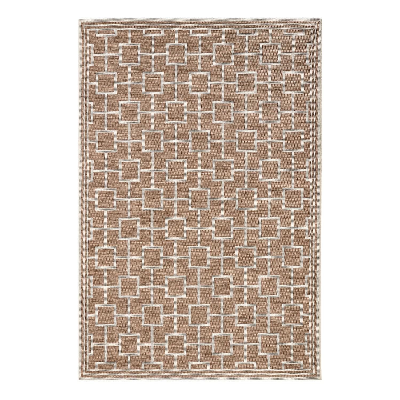 In-/outdoortapijt Bay - kunstvezels - Taupe - 115 x 165 cm, Maison Belfort