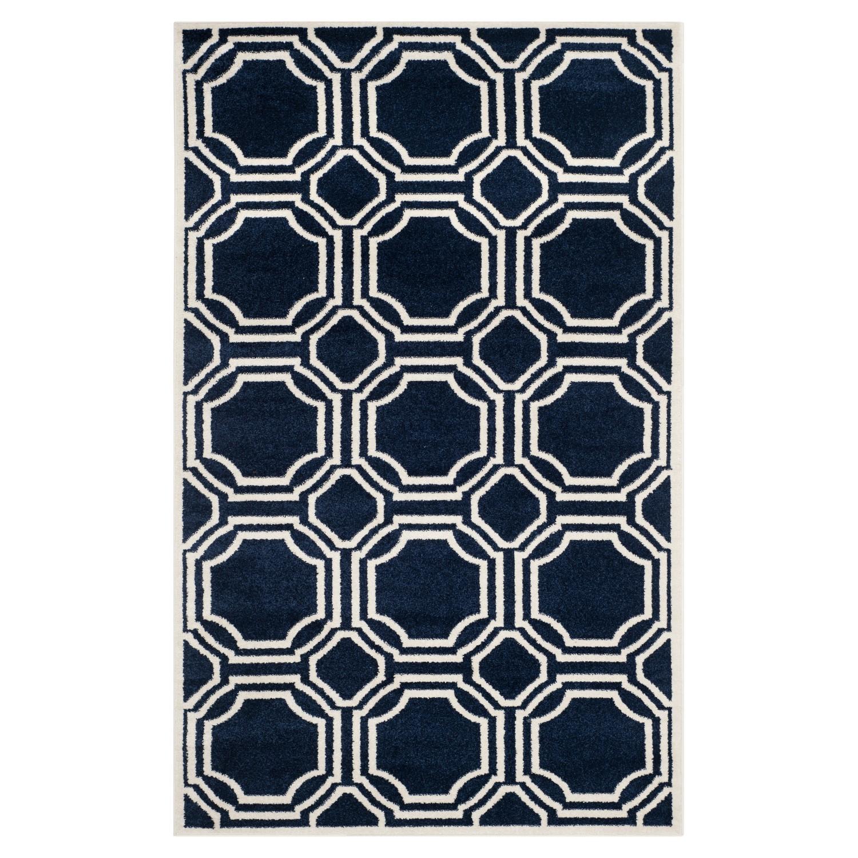 In-/outdoortapijt Ferrat - marineblauw/crèmekleurig - afmetingen: 152x243cm, Safavieh