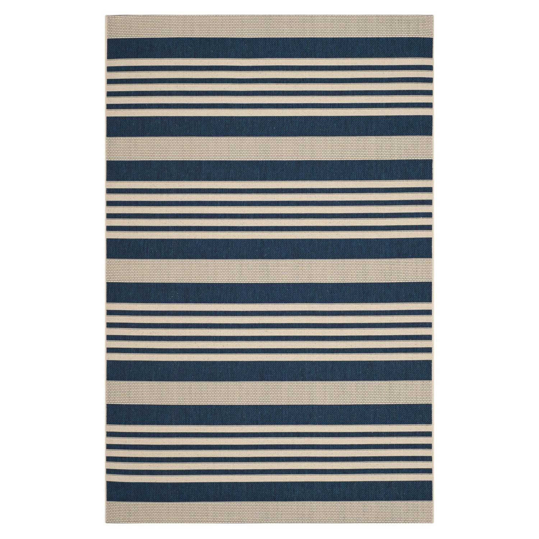 In-/outdoortapijt Gemma - marineblauw/beige - afmetingen: 121x170cm, Safavieh
