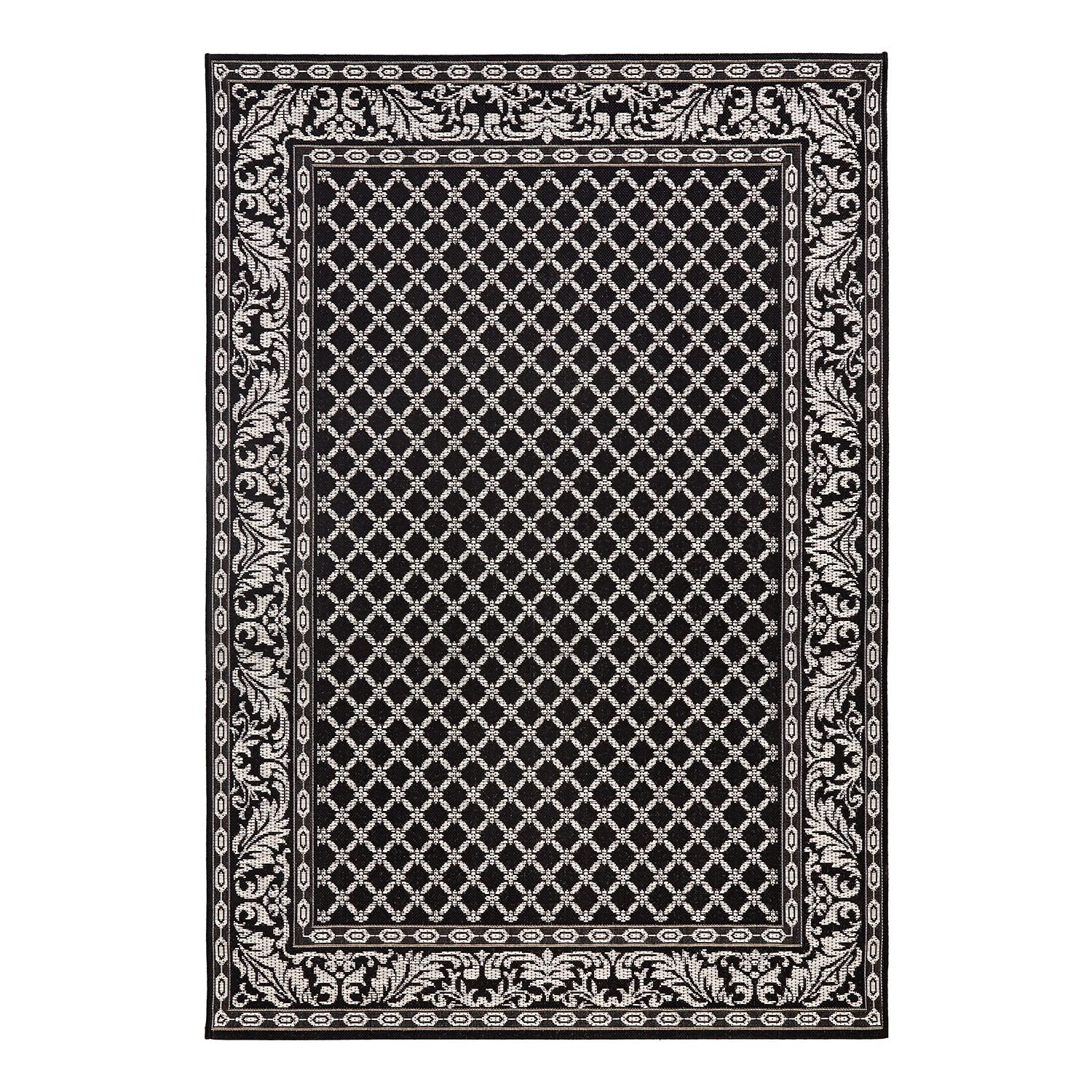tapis d 39 int rieur et d 39 ext rieur royal fibres synth tiques noir 160 x. Black Bedroom Furniture Sets. Home Design Ideas