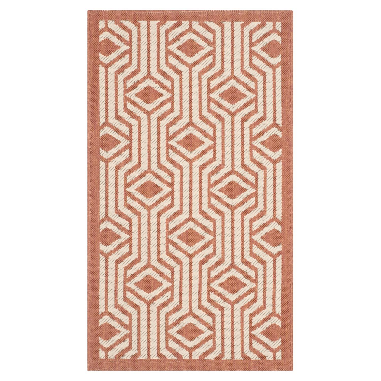 In-/outdoortapijt Samos - beige/terracottakleurig - afmetingen: 60x109cm, Safavieh