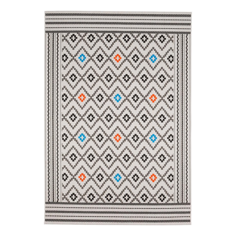 tapis int rieur ext rieur star fibres synth tiques beige noir 160 x 230 cm kiydoo. Black Bedroom Furniture Sets. Home Design Ideas