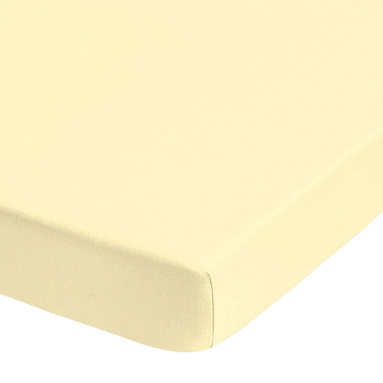 Jersey elastische boxspring hoeslaken (topper) - Crème - 180-200x200-220cm, Biberna