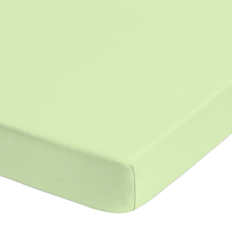 Jersey elastische boxspring hoeslaken (topper) - Pistache groen - 90-100x190-220cm, Biberna