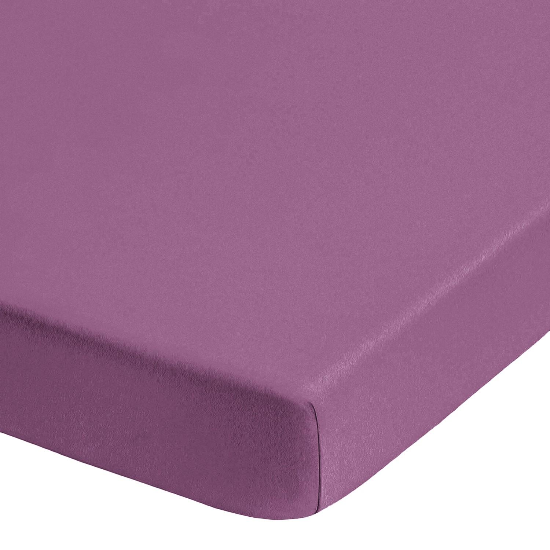 Home 24 - Drap-housse en jersey élastique pour boxspring (surmatelas) - violet - 180-200 x 200-220 cm, biberna
