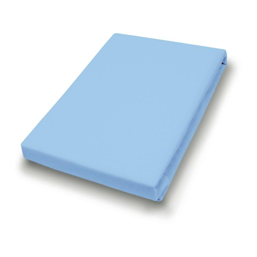 Jersey-spanhoeslaken - Aquablauw - 140-160x200cm, vario