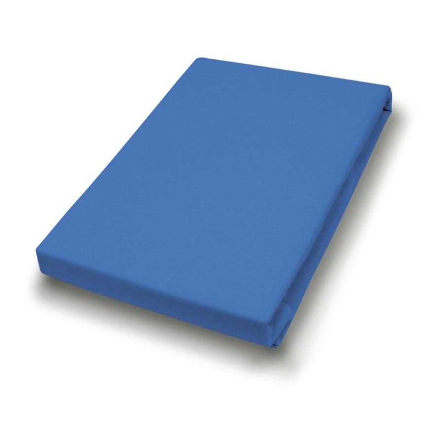 Jersey-spanhoeslaken - Blauw - 90-100x200cm, vario