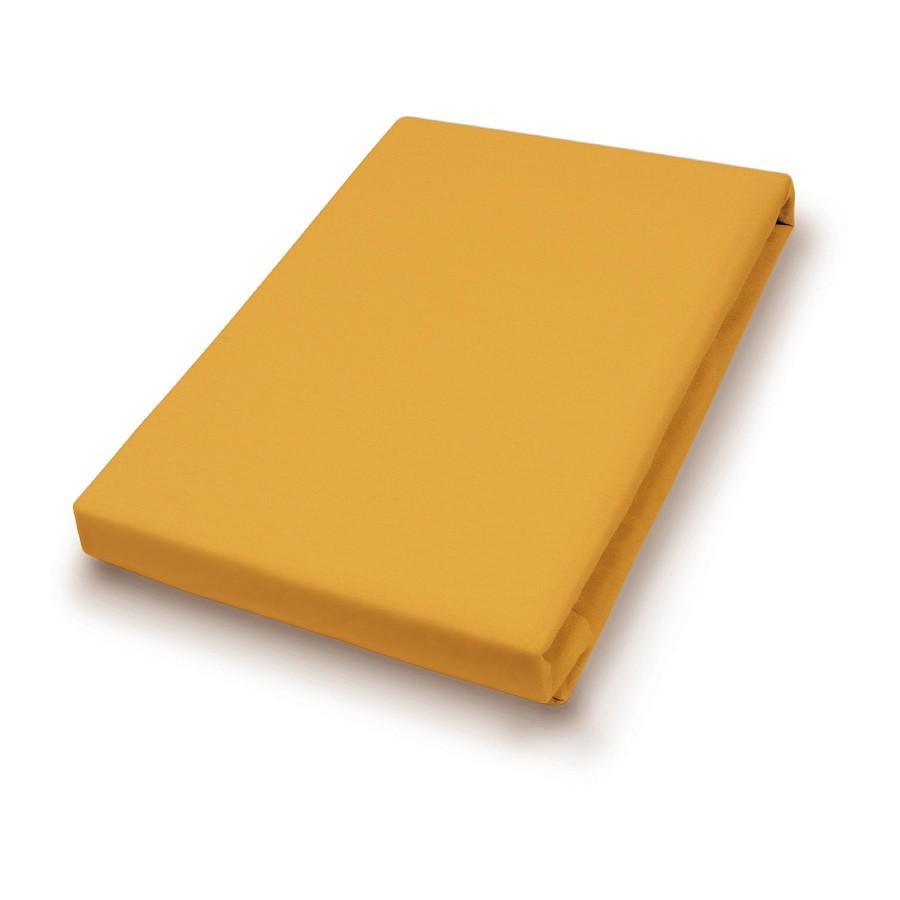 Jersey-spanhoeslaken - Geel - 90-100x200cm, vario