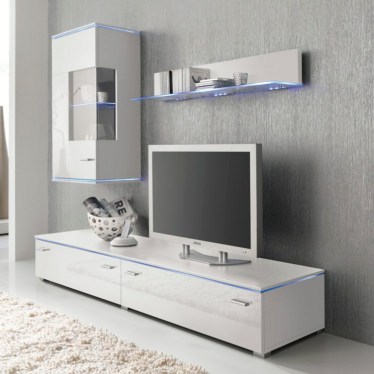 wohnwand weiss hochglanz preisvergleich die besten angebote online kaufen. Black Bedroom Furniture Sets. Home Design Ideas