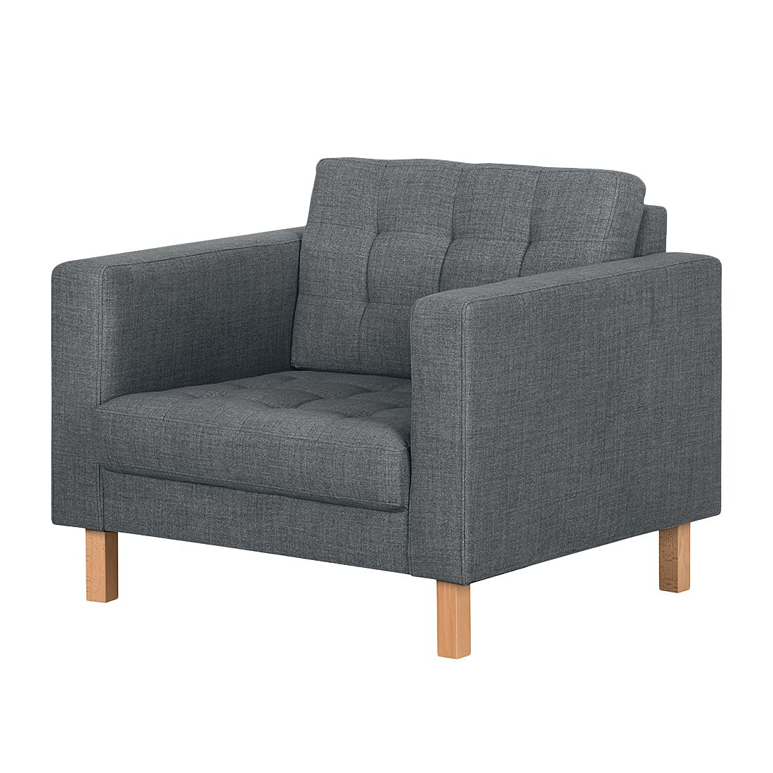 Fauteuil Grums II - Tissu - Anthracite, Morteens