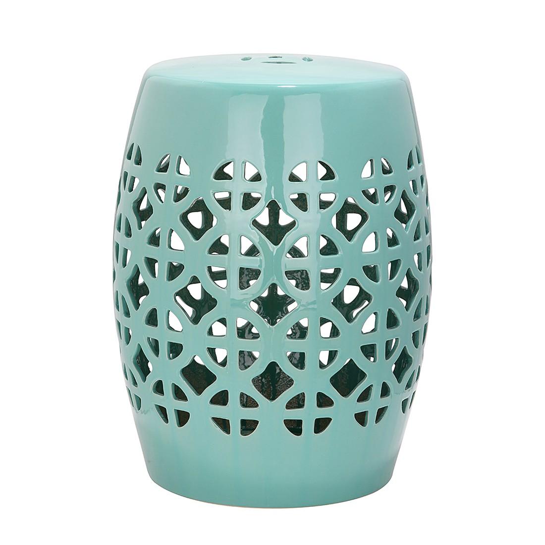 """Gartenhocker """"Circle"""" aus Keramik, türkis (Kopie) Home24"""