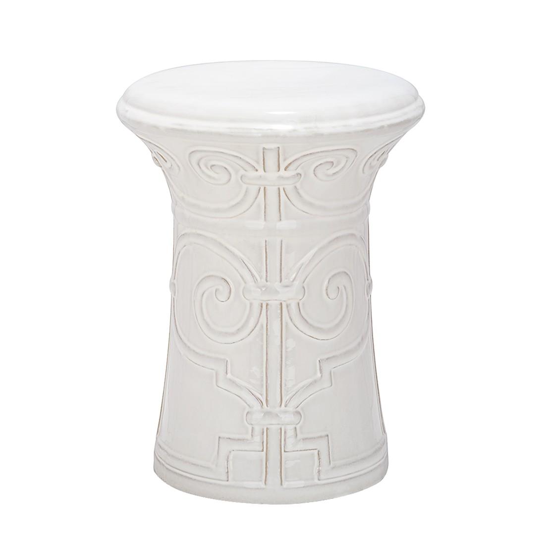 "Gartenhocker ""Imperial"" aus Keramik, weiß (Kopie)"