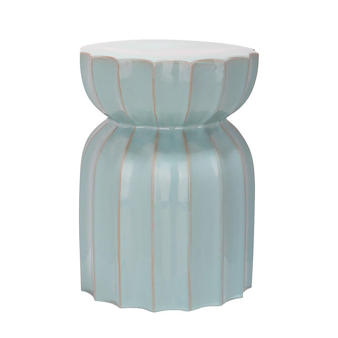 """Gartenhocker """"Lotosgarten"""" aus Keramik, lichtblau (Kopie) Home24"""