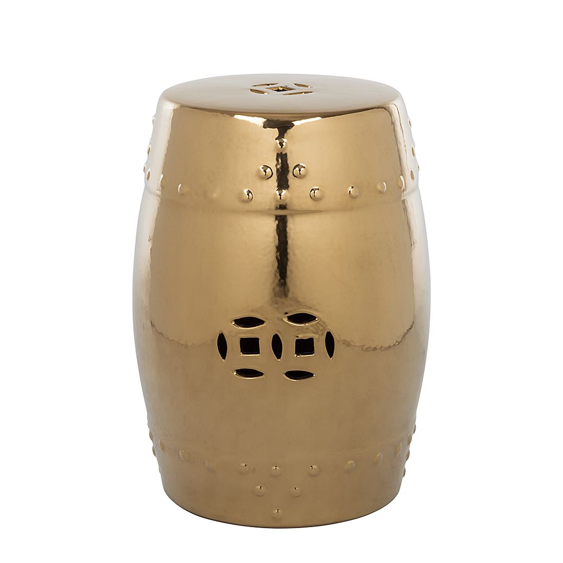 """Gartenhocker """"Ming"""" aus Keramik, goldfarben (Kopie) Home24"""