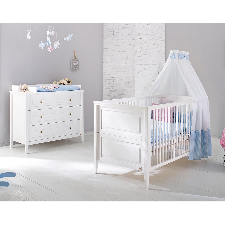 Ensemble de chambre de bébé Smilla Kids (2 éléments) - Pin massif - Blanc, Pinolino