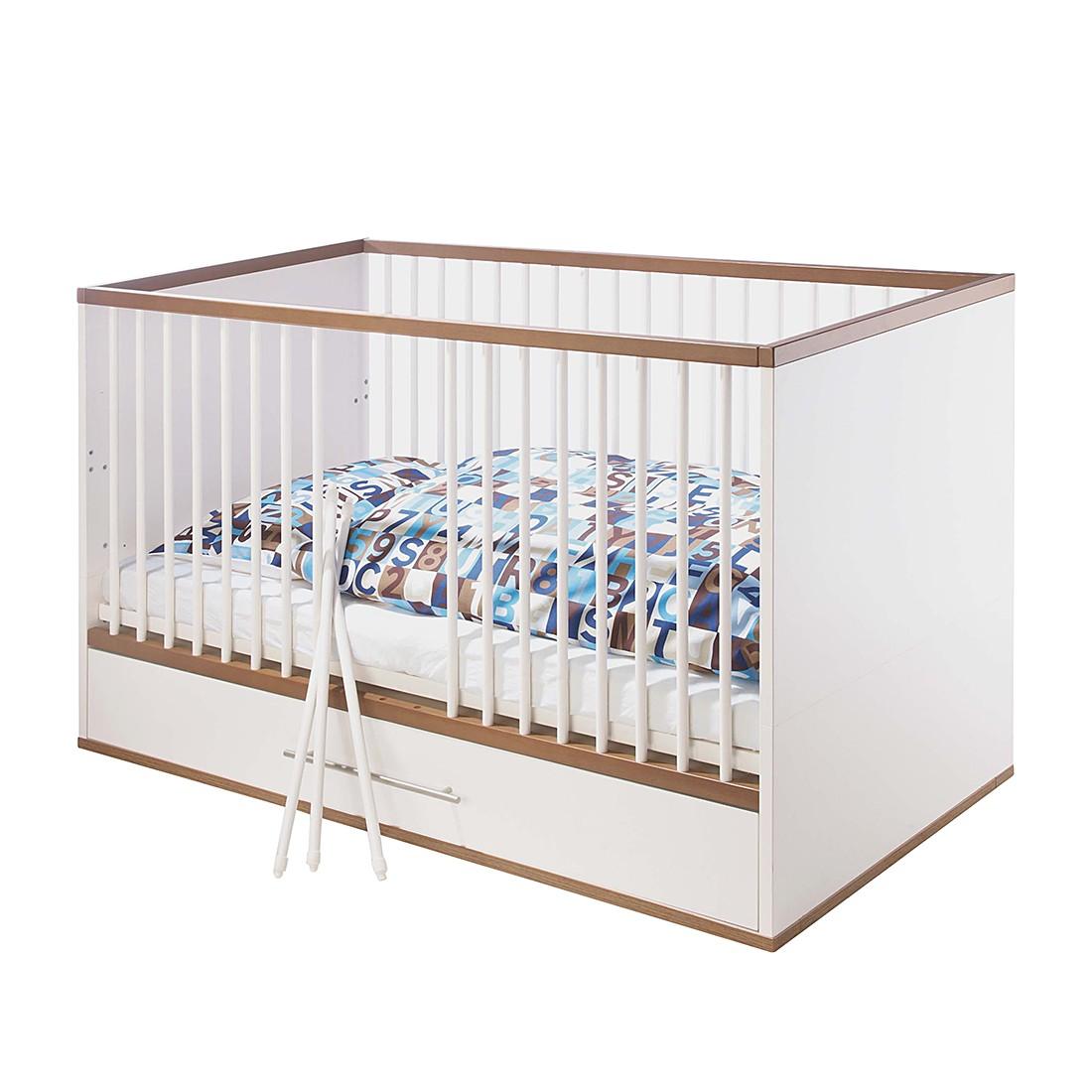 Kinderbett Tuula - Kiefer - Weiß, Pinolino