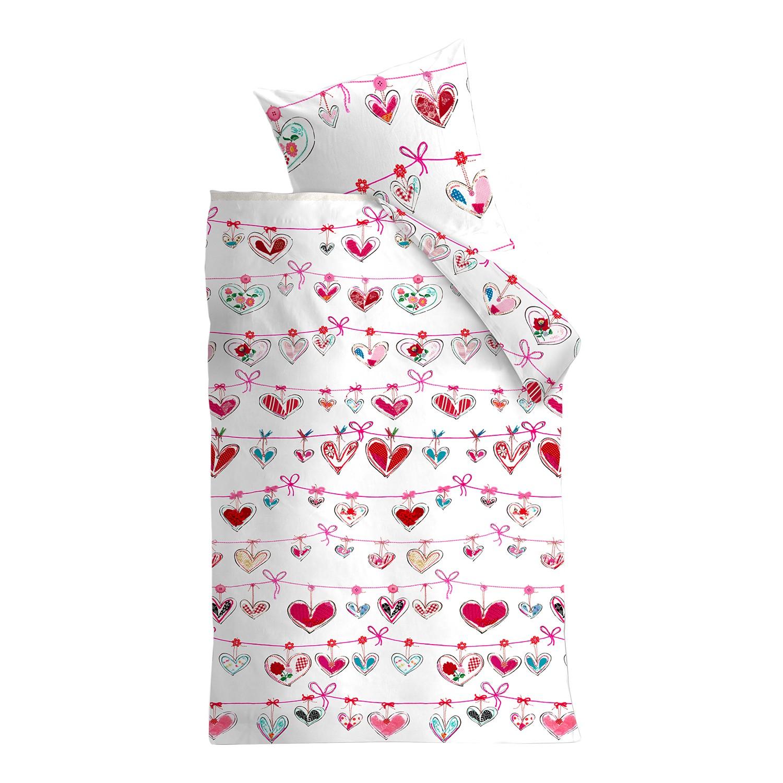 Kinderbeddengoed Garland - katoen - wit/roze - 100x135cm + kussen 40x60cm, Beddinghouse KIDS