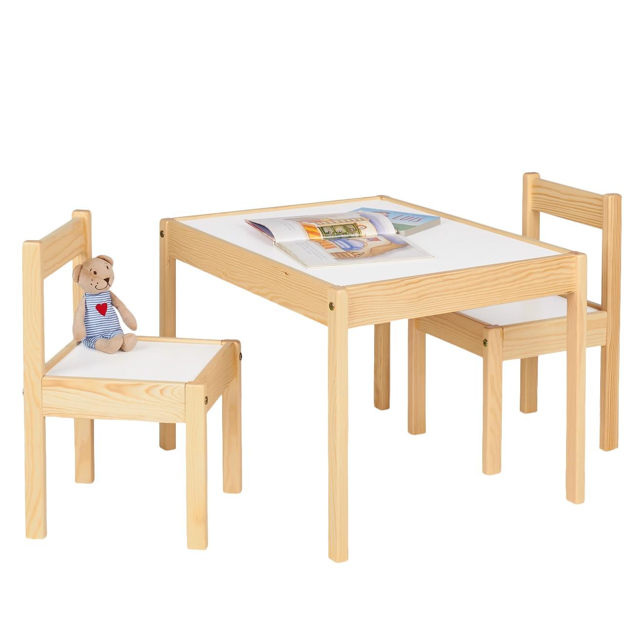 Kinderzitgroep Olaf (3-delige set) - natuurlijk deels massief grenenhout/wit, Pinolino