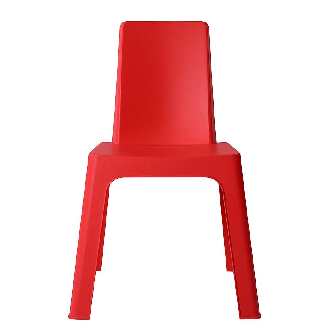 Home 24 - Chaise pour enfant julieta (lot de 2) - rouge, kids club collection