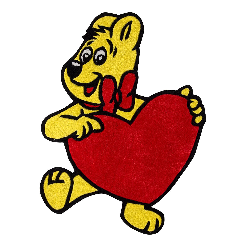 Kinderteppich Goldbär mit Herz, Haribo