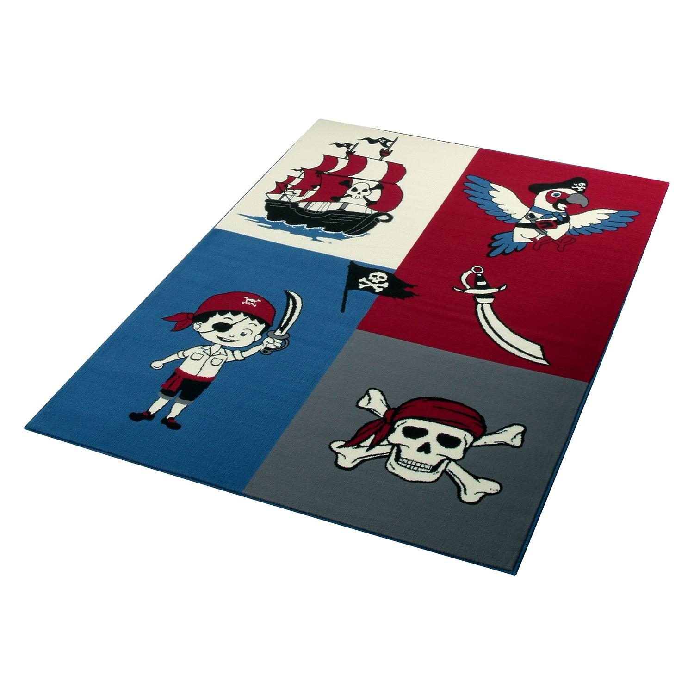 Kindertapijt Piraten - Blauw/rood, Hanse Home Collection