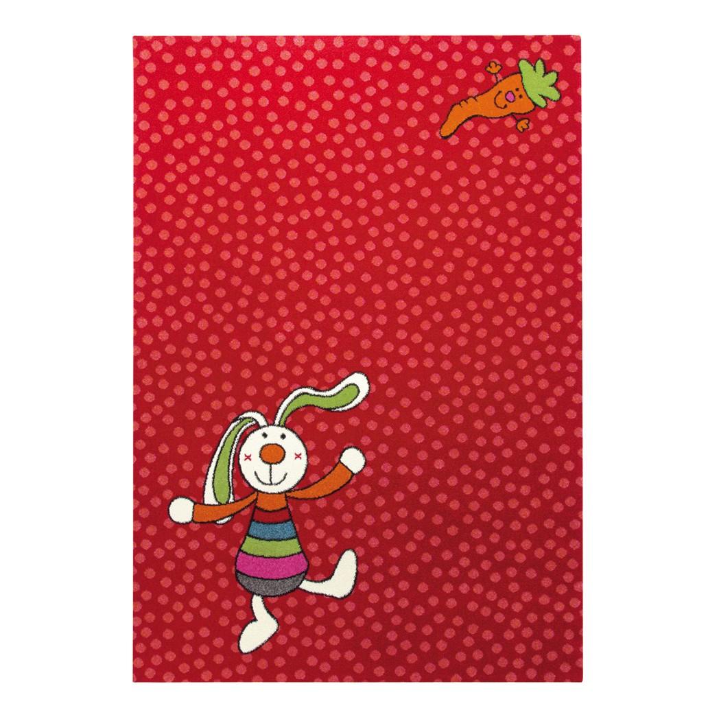 Kindertapijt Rainbow Rabbit   rood   133x200cm_ Sigikid