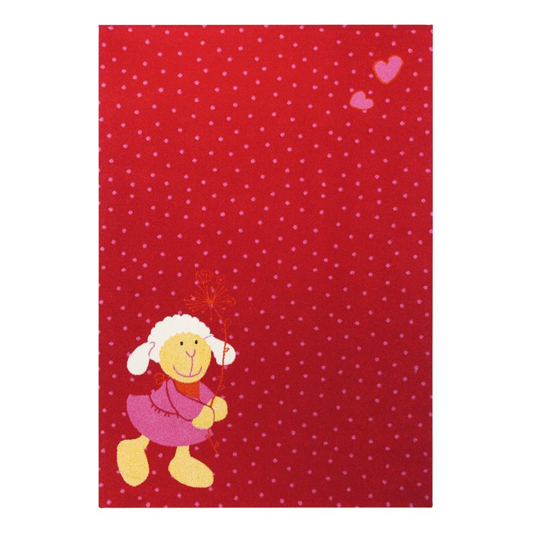 Kindervloerkleed Schnuggi - rood - 80x150cm, Sigikid