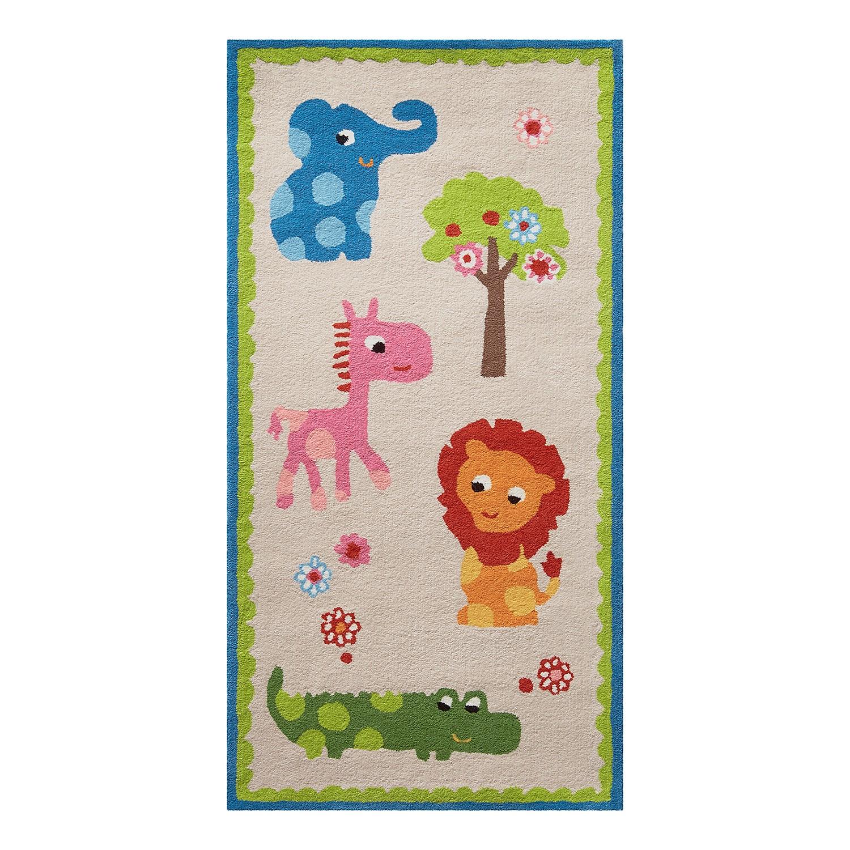 Home 24 - Tapis pour enfant zoo - beige - 90 x 160 cm, esprit home
