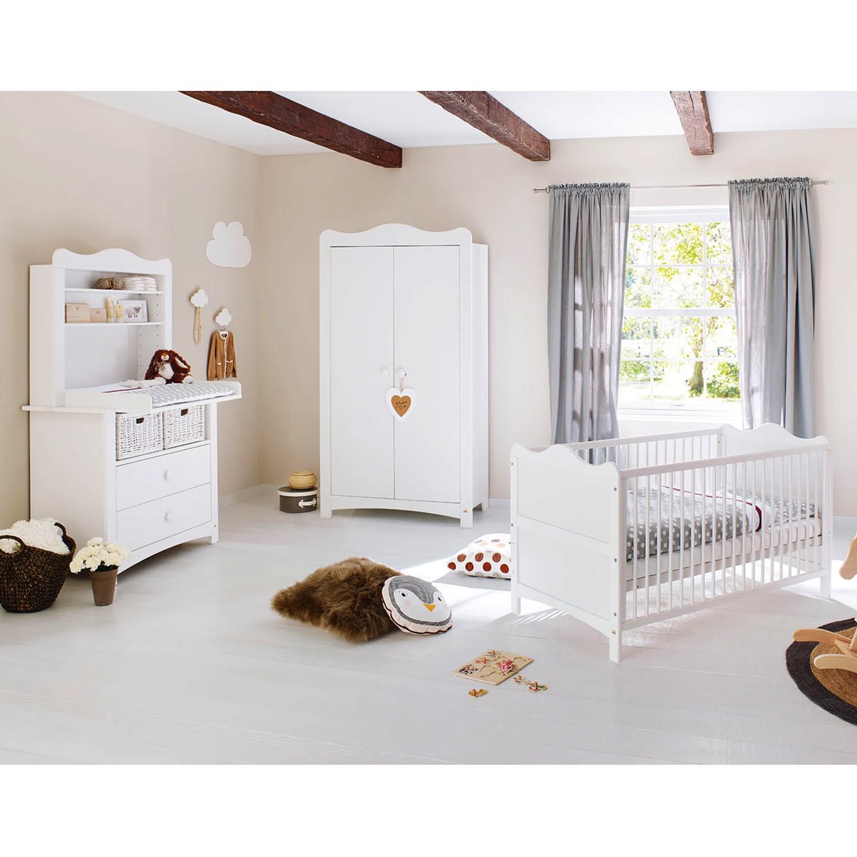 Ensemble de chambre de bébé Florentina Kids II (3 éléments) - Blanc, Pinolino