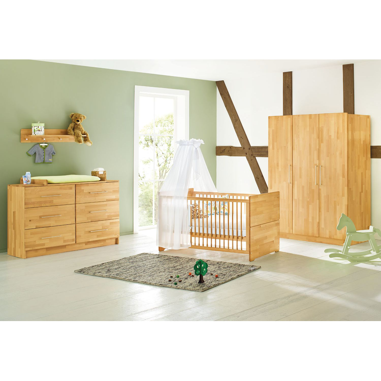 Ensemble de chambre de bébé Natura Kids (3 éléments) - Hêtre massif - 142 cm (3 portes), Pinolino