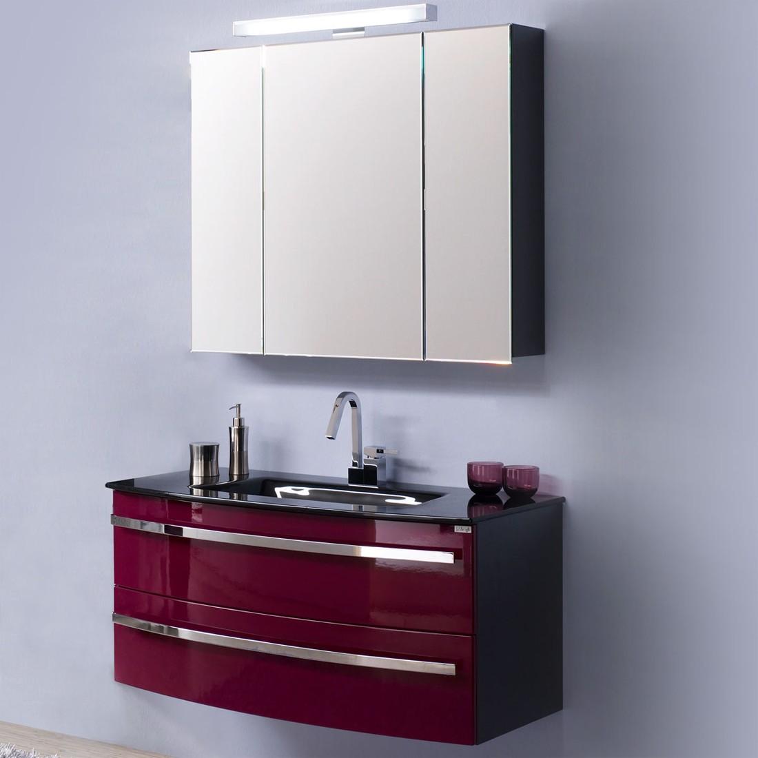 Home 24 - Eek a, meuble lavabo kingston - anthracite / mûre brillant, aqua suite