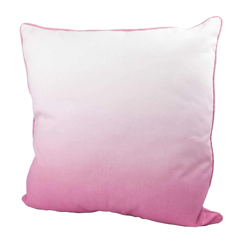 Home 24 - Coussin batik dipdye - coton - rose vif / blanc, wittkemper living