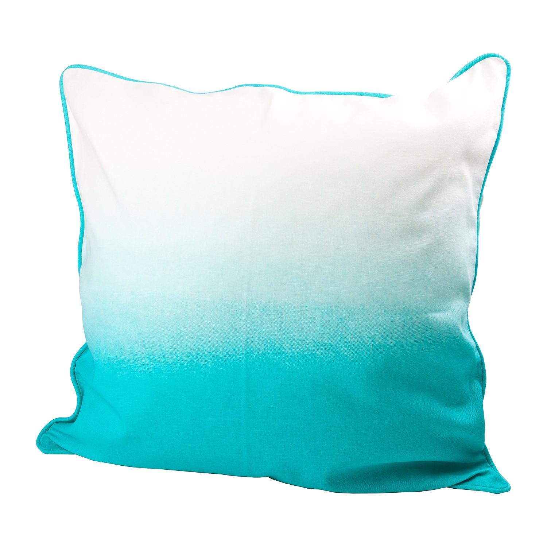Kussen Batik Dipdye - katoen - Turquoise/wit, Wittkemper Living
