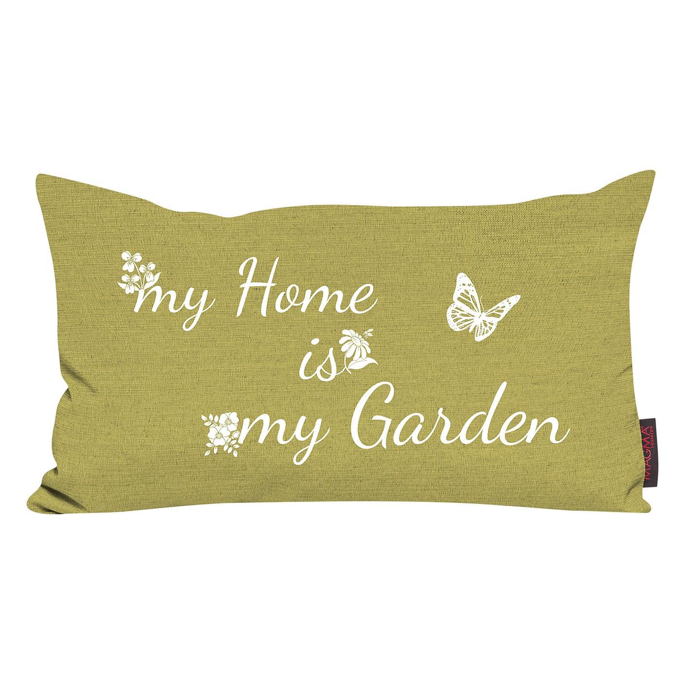 Kussen Garden - tuin - geweven stof - groen, Magma Heimtex