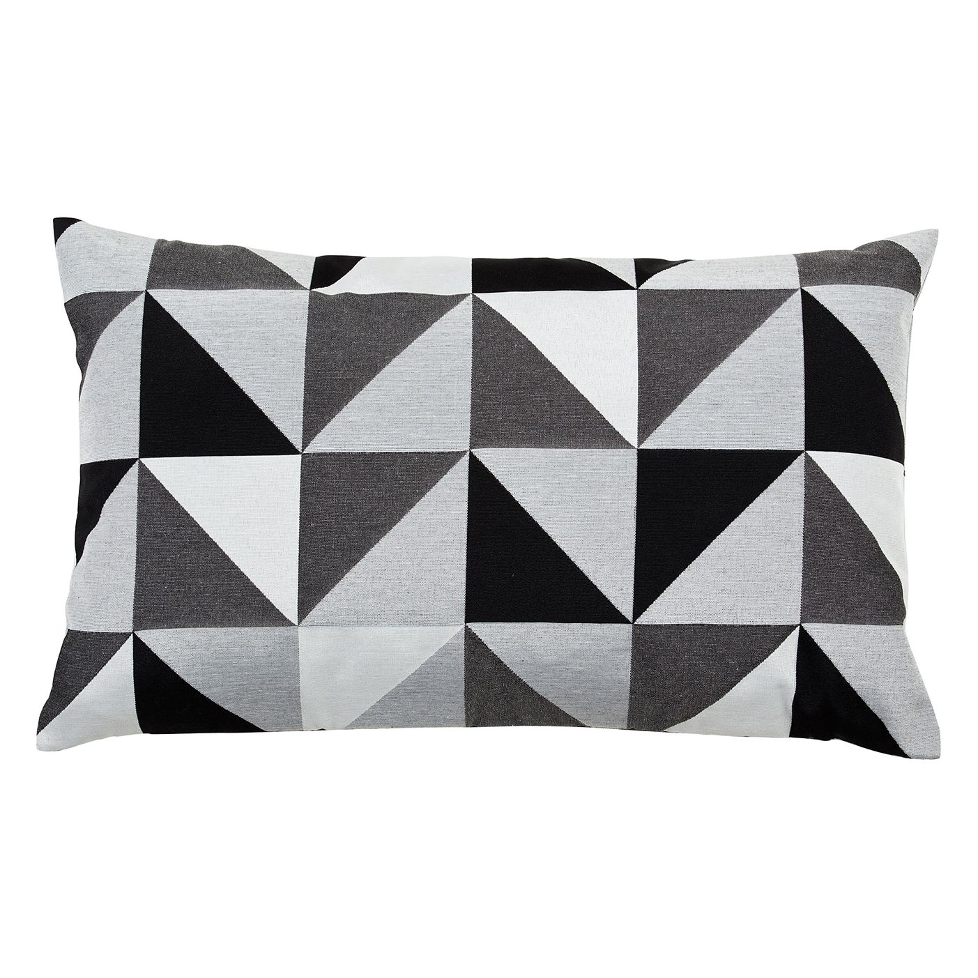 kissen geometric mischgewebe schwarz wei 30 x 50. Black Bedroom Furniture Sets. Home Design Ideas