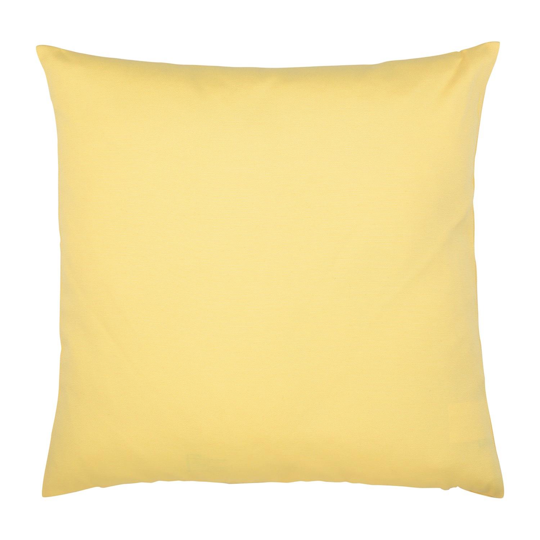 Kissen Juno - Baumwollmischgewebe - Gelb - 50 x 50 cm
