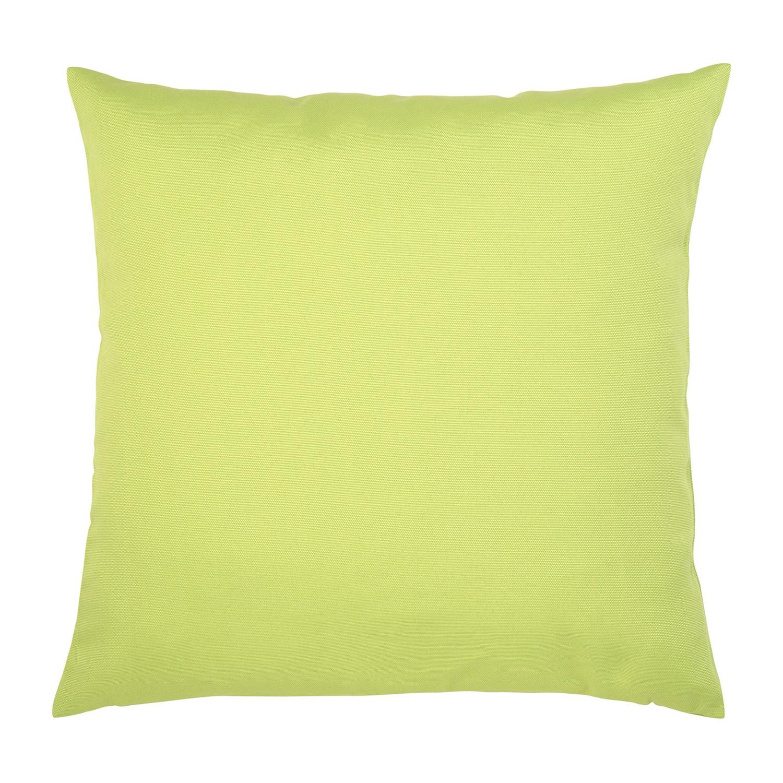 Kissen Juno - Baumwollmischgewebe - Lindgrün - 50 x 50 cm